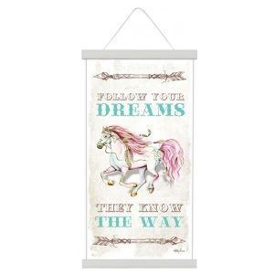 pony canvas scroll