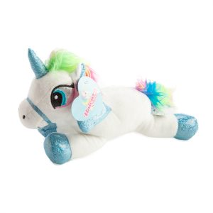 plush flying unicorn white