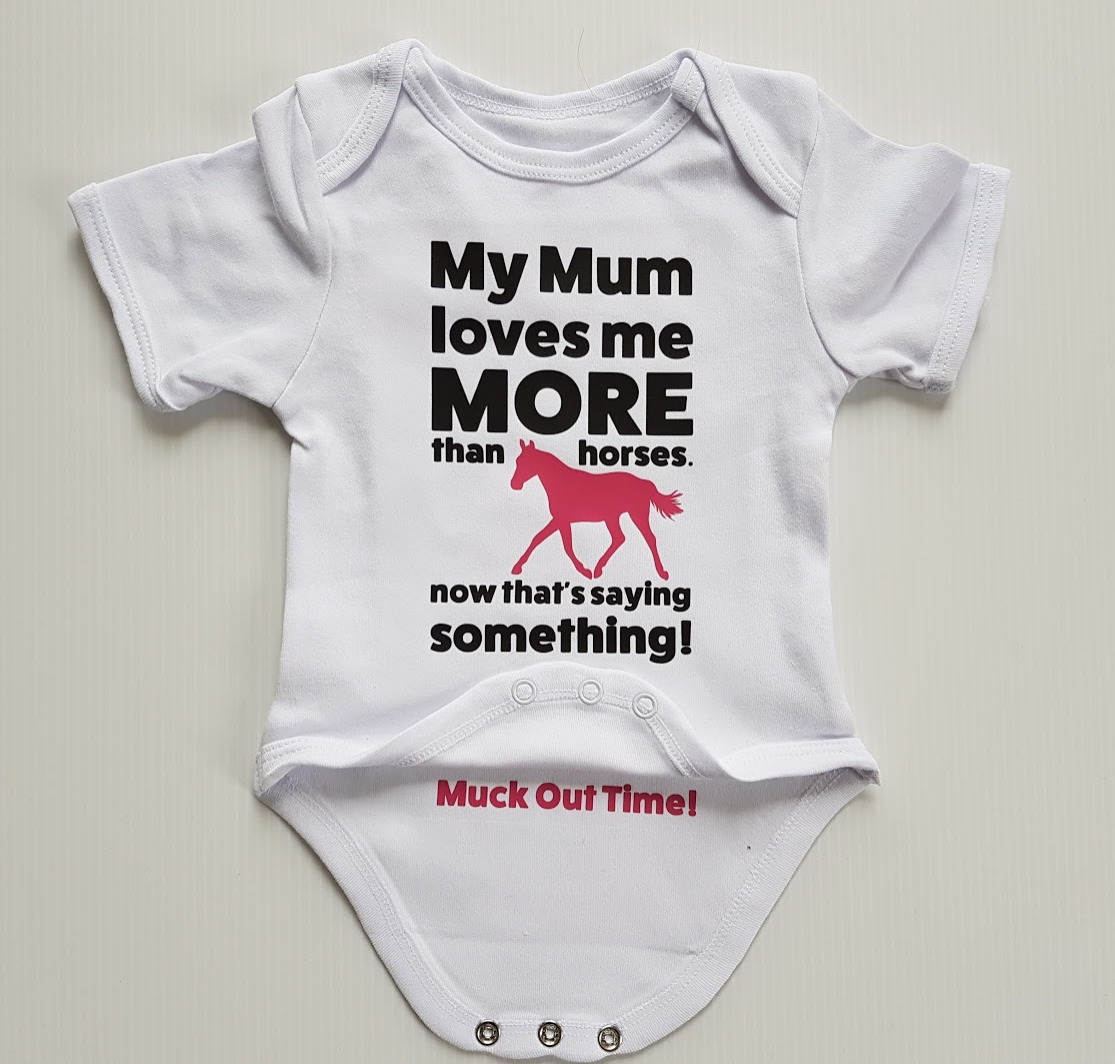 Horse themed baby gifts filly and co my mum loves me more than horses negle Choice Image