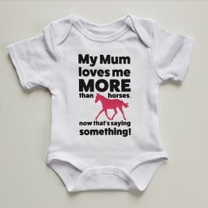 My mum loves me more than horses
