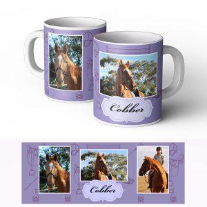 personalised horse mug