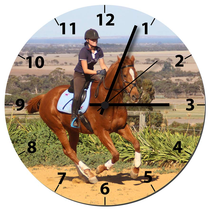 Your Photo Horse Clock