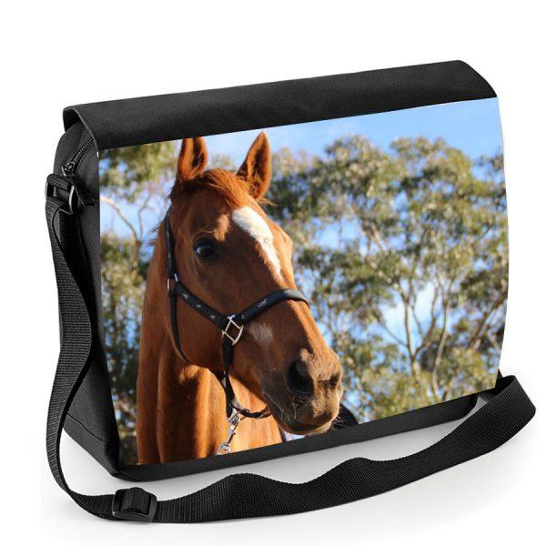 your horse photo messenger bag