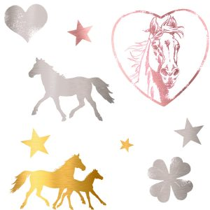 metallic horse tattoos