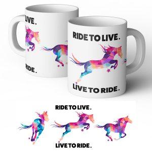 ride to live live to ride mug