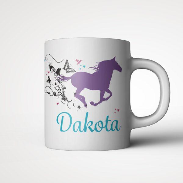 Personalised Swirl Horse Mug