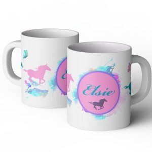 personalised watercolour horse mug