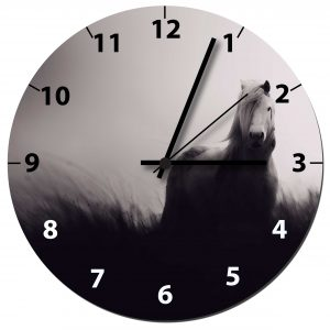 Wild and free horse clock