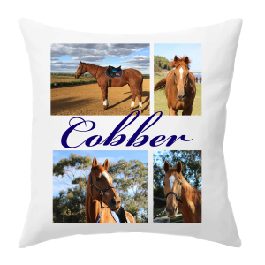 personalised horse photo cushion