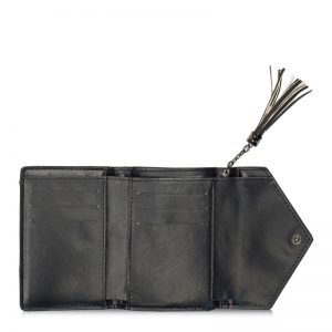 folding horse wallet black