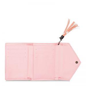 folding horse wallet pink