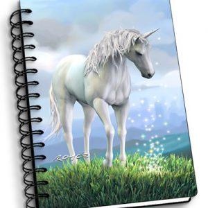 3d unicorn notebook