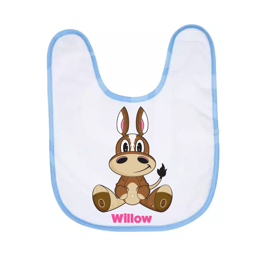 Horse themed baby gifts filly and co pony baby bib negle Images