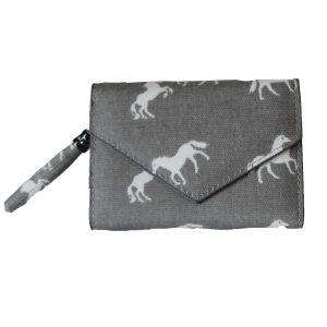 folding horse wallet grey