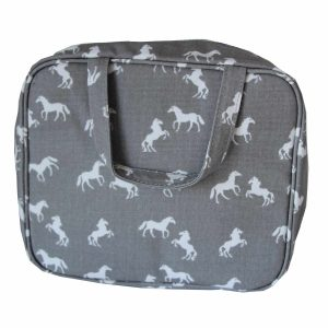 Horse Toiletry Bag Grey