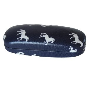 horse glasses case navy