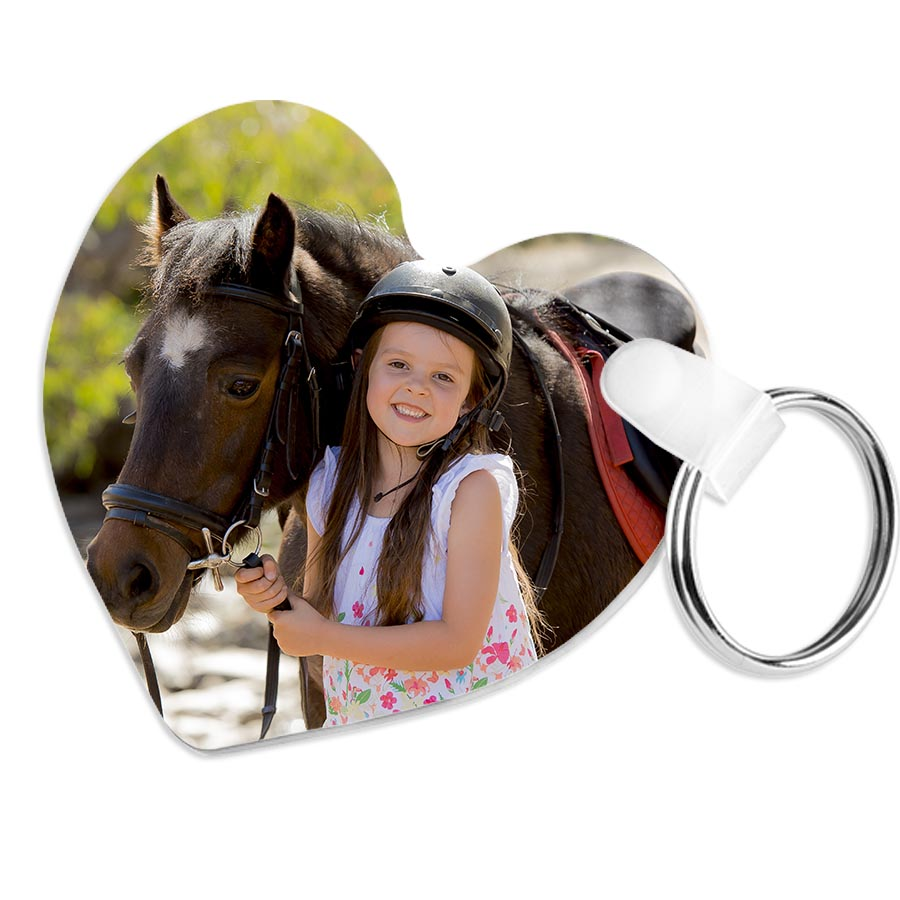your photo heart keyring