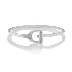 Sparkly Stirrup Bangle