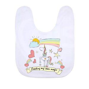 Unicorn_baby _Bib_White