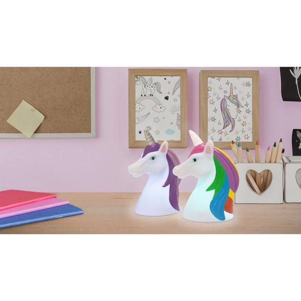 unicorn head LED lights