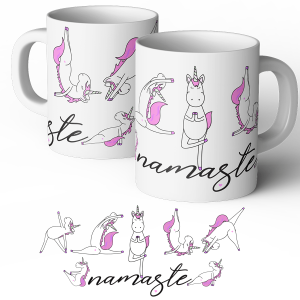 yoga unicorn mug