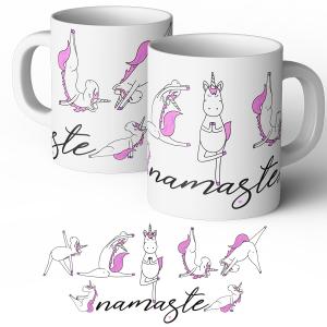 yoga unicorn mug