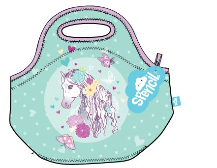 peony pony lunch bag