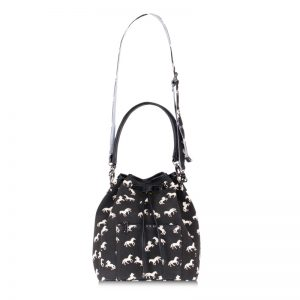 horse bucket bag black
