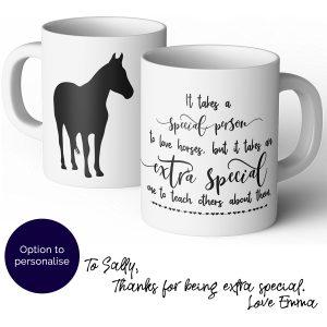 horse riding instructor thank you mug