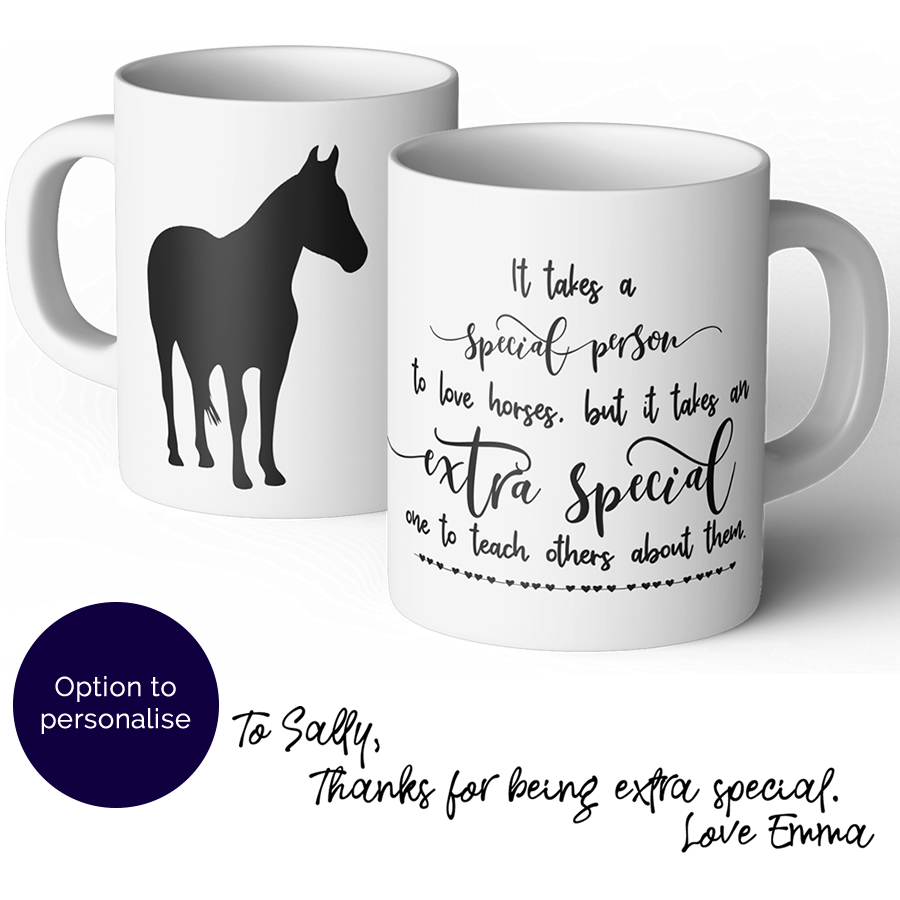 horse riding instructor thank you mug
