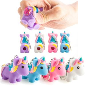 poo poo unicorn keychain