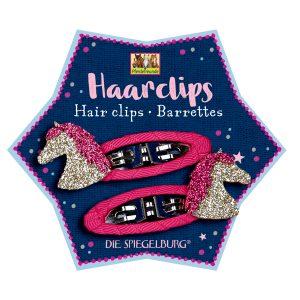 Glitter Horse Hair Clips