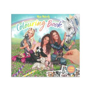 Miss Melody Colouring in Book