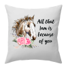 flower horse cushion