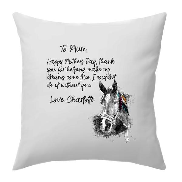 line horse cushion