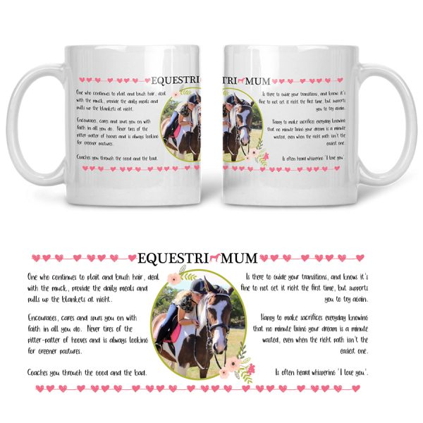 Equestri Mum Mug Add Your Photo Filly And Co Horse Gifts