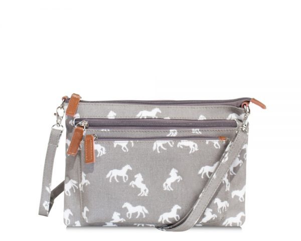 multi pocket handbag grey