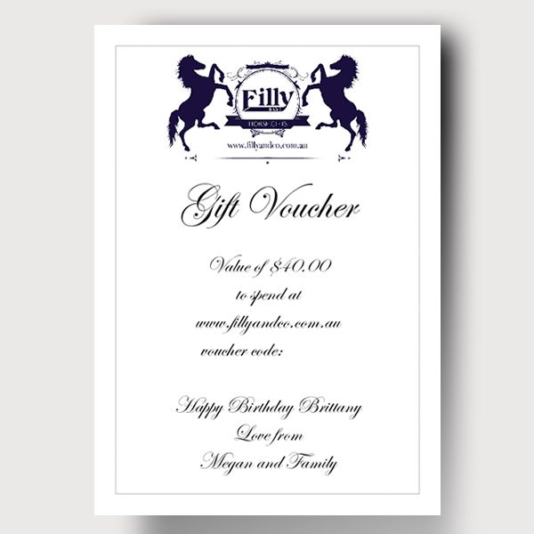 Filly and Co Gift Voucher