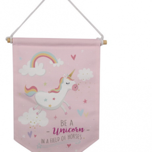Pink Unicorn Wall Hanger