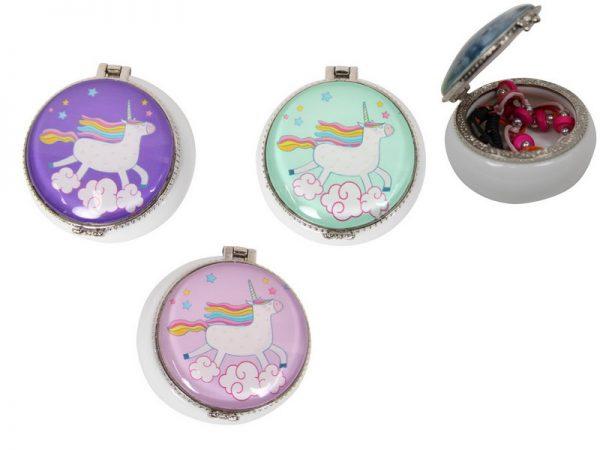 round unicorn pin box
