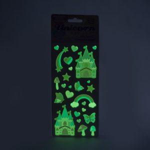Glow in the Dark Unicorn Kingdom Stickers