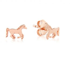 running pony studs rose gold
