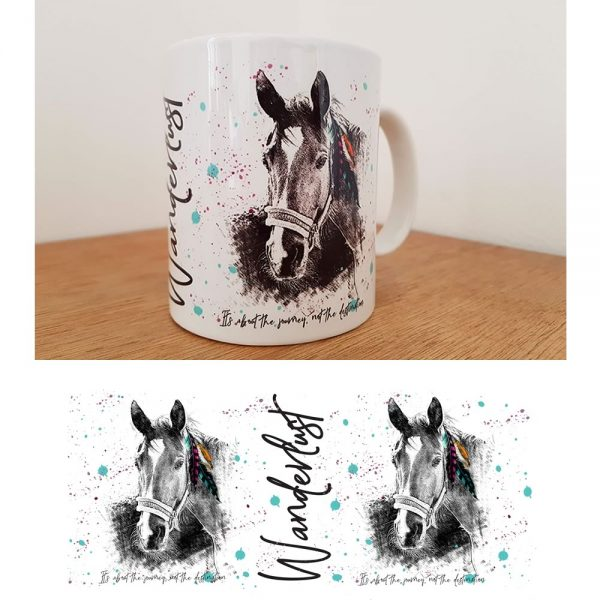 wanderlust horse mug