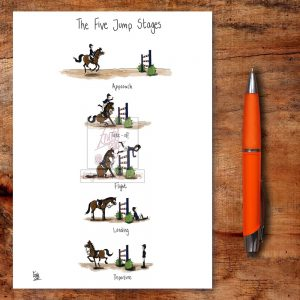five stages of jumping greeting card