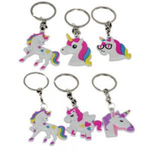 Colourful Unicorn Keyring