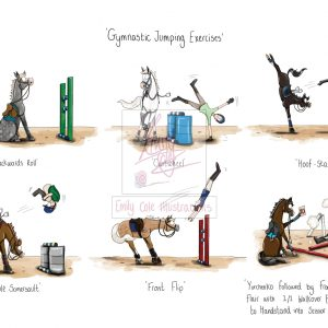 Gymnastic Exercises Greeting Card