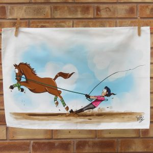 Lunge Line Tea Towel
