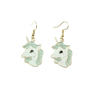 Unicorn Head Drop Earrings
