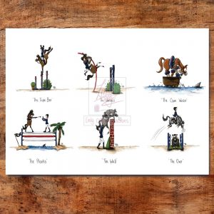 Show Jumping Collection Greeting Card