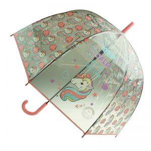 unicorn umbrella pink